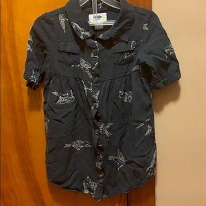 Old navy 3t navy bird tunic dress
